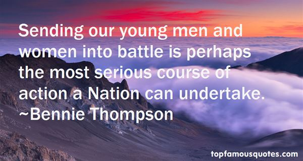 Bennie Thompson Quotes