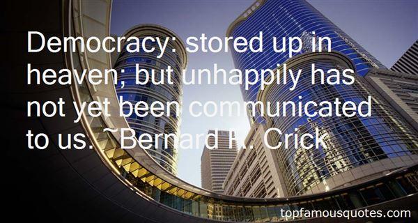 Bernard R. Crick Quotes