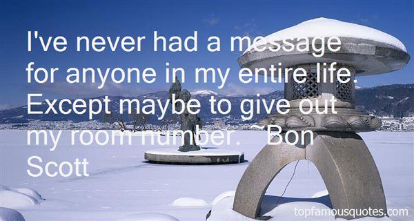 Bon Scott Quotes