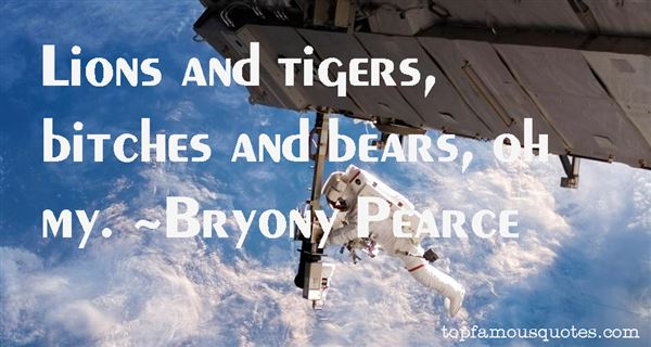 Bryony Pearce Quotes