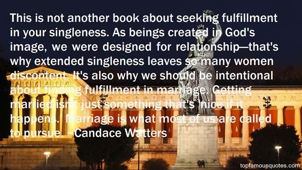 Candace Watters Quotes