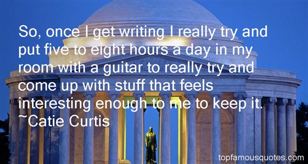 Catie Curtis Quotes