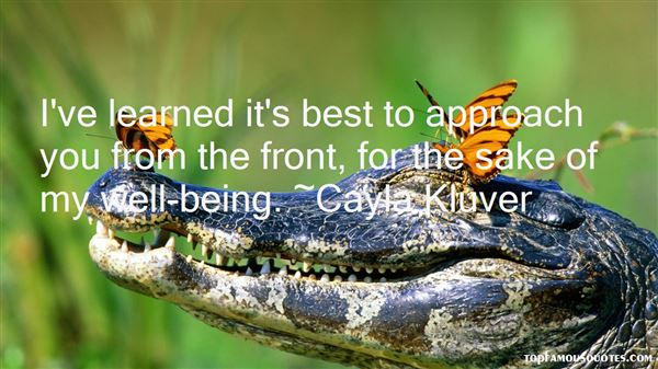 Cayla Kluver Quotes