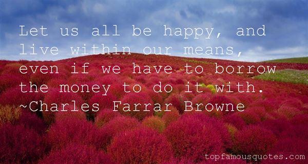 Charles Farrar Browne Quotes