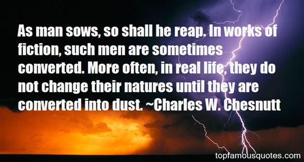 Charles W. Chesnutt Quotes