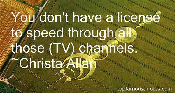 Christa Allan Quotes