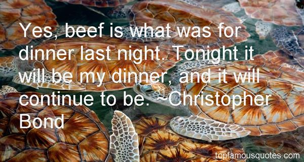 Christopher Bond Quotes
