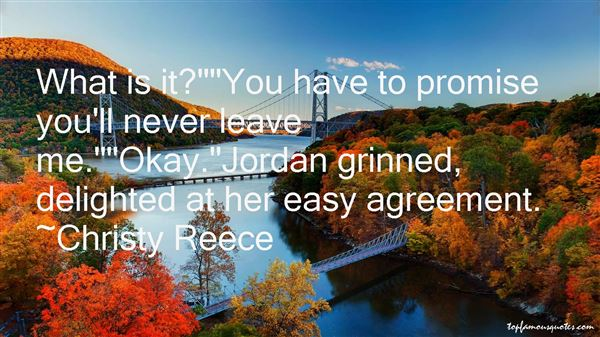 Christy Reece Quotes
