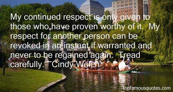 Cindy Welch Quotes