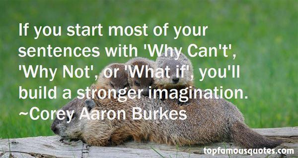 Corey Aaron Burkes Quotes