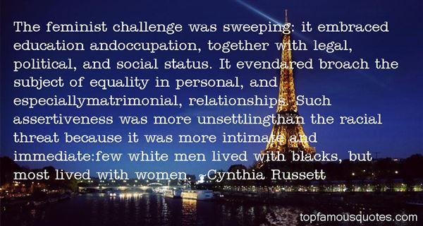Cynthia Russett Quotes