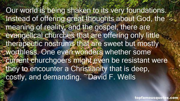 David F. Wells Quotes