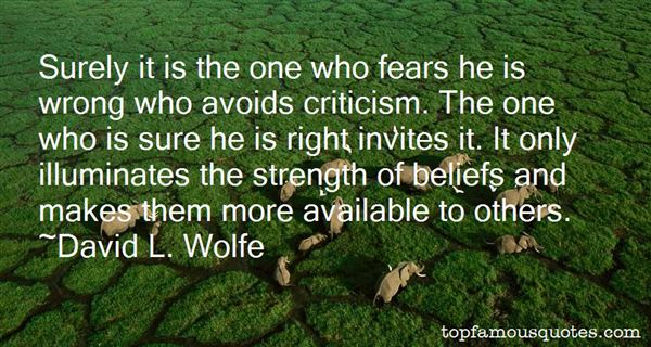 David L. Wolfe Quotes
