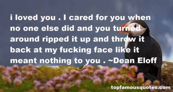 Dean Eloff Quotes