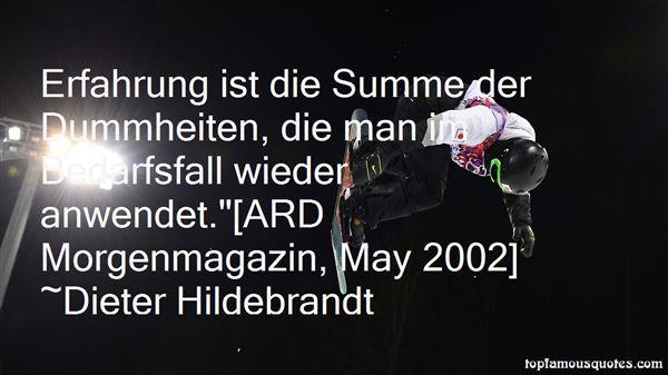 Dieter Hildebrandt Quotes