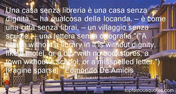 Edmondo De Amicis Quotes
