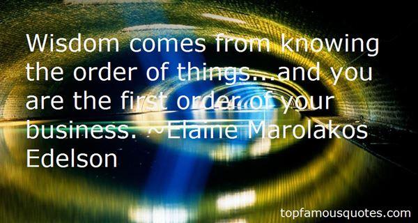 Elaine Marolakos Edelson Quotes