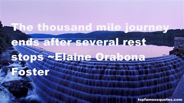 Elaine Orabona Foster Quotes
