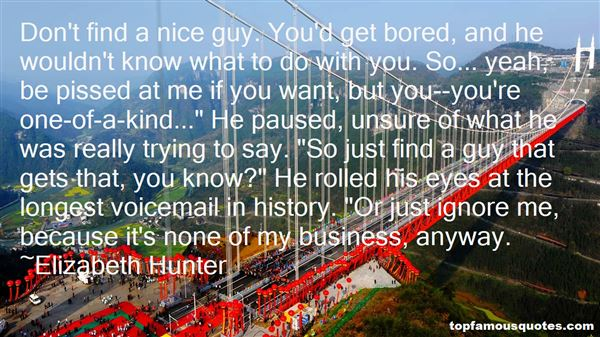 Elizabeth Hunter Quotes