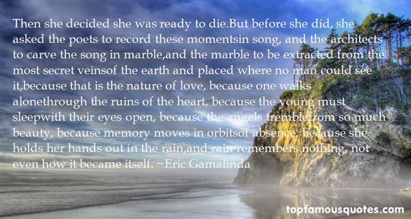 Eric Gamalinda Quotes