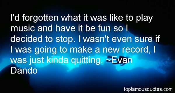 Evan Dando Quotes