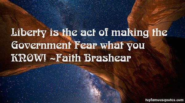Faith Brashear Quotes