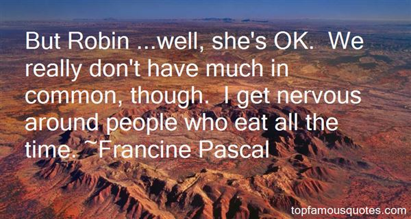 Francine Pascal Quotes