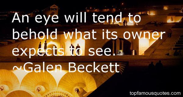 Galen Beckett Quotes