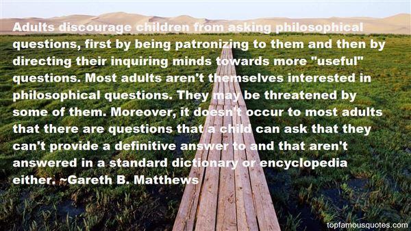 Gareth B. Matthews Quotes