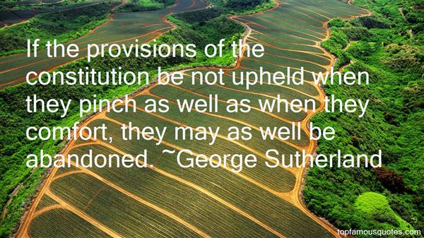 George Sutherland Quotes