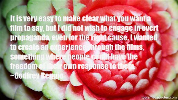 Godfrey Reggio Quotes