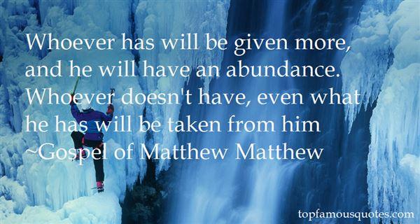 Gospel Of Matthew Matthew Quotes