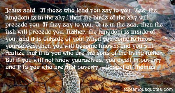 Gospel Of Thomas Quotes