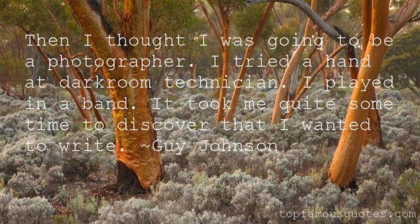 Guy Johnson Quotes