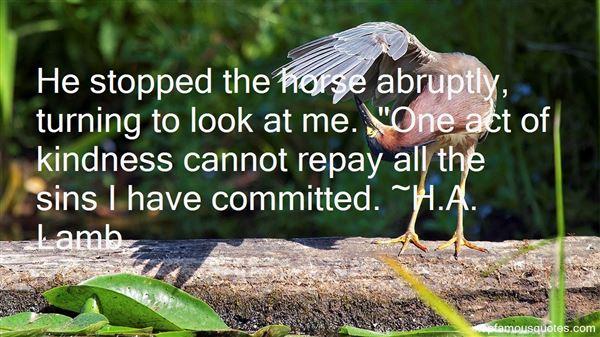 H.A. Lamb Quotes