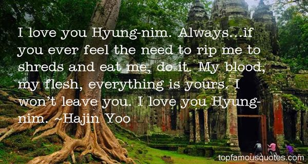 Hajin Yoo Quotes