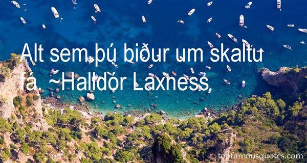 Halldór Laxness Quotes