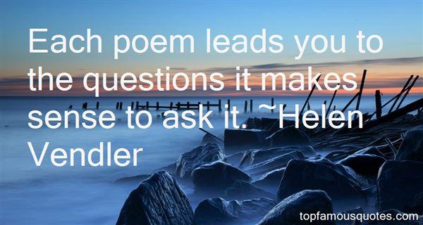 Helen Vendler Quotes