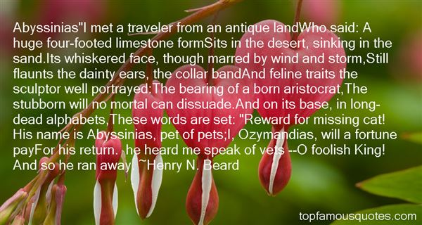 Henry N. Beard Quotes