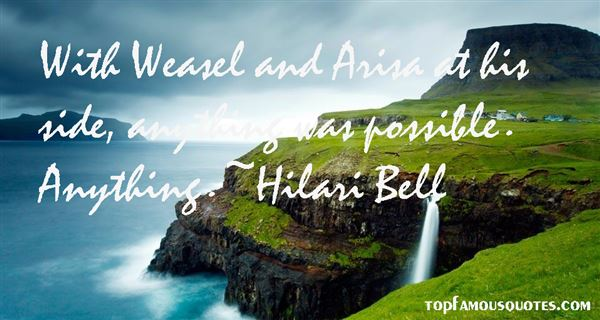 Hilari Bell Quotes
