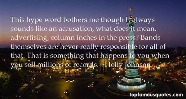 Holly Johnson Quotes