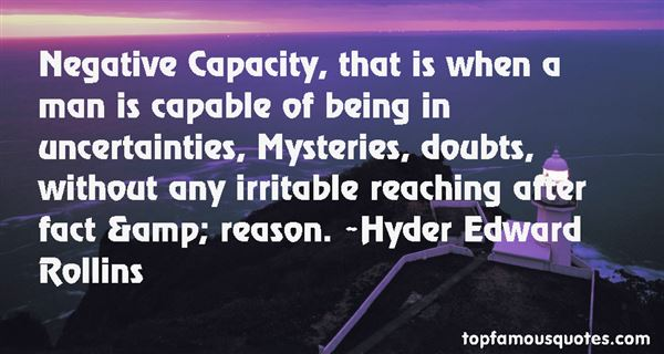 Hyder Edward Rollins Quotes