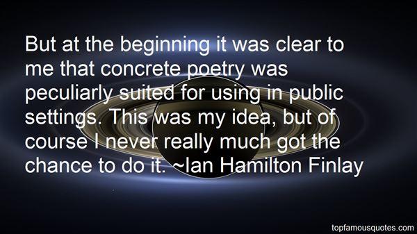 Ian Hamilton Finlay Quotes