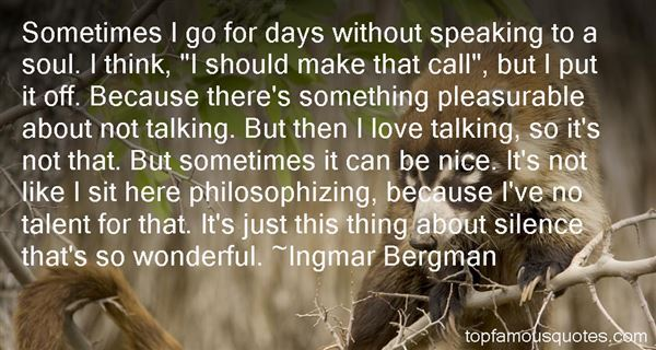 Ingmar Bergman Quotes