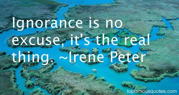 Irene Peter Quotes