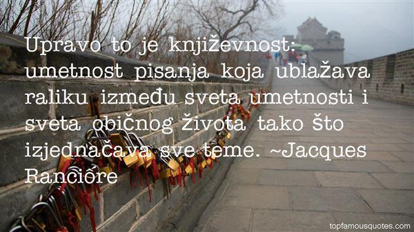 Jacques Rancière Quotes