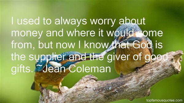 Jean Coleman Quotes