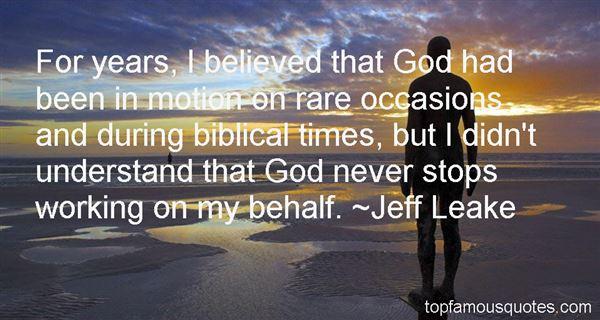 Jeff Leake Quotes