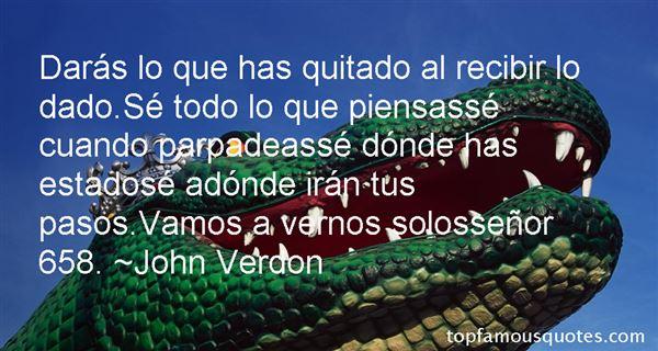 John Verdon Quotes