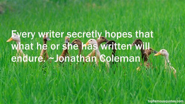 Jonathan Coleman Quotes